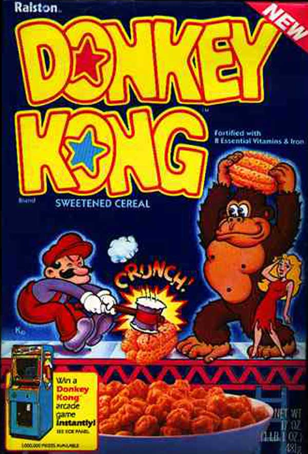 Donkey Kong Cereal was one of  E.t. Cereal